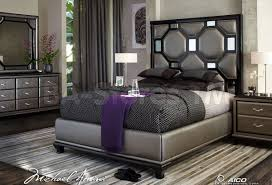 Michael Amini Dining Room Furniture by Sale 1739 00 After Eight Upholstered Headboard Black Onyx By