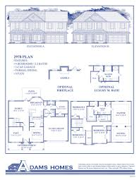 luxury townhouse floor plans walkers ridge adams homes