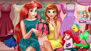 anna and ariel dressing room game disney princess games dress