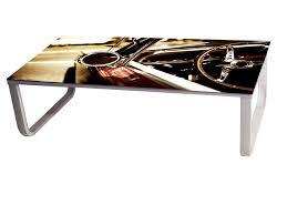 furniture custom dodge truck car hood coffee table with metal