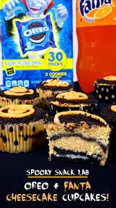 oreo and fanta halloween cheesecake cupcakes