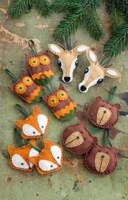 felt woodland animal ornament patterns search felting