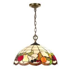 stained glass light fixtures home depot springdale lighting fruit 2 light antique brass hanging pendant