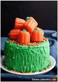 easy pumpkin cake with pumpkin candies cakewhiz