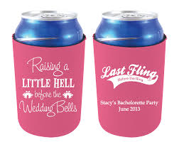 wedding koozie custom wedding koozies