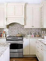 backsplash for white kitchen cabinets white kitchen cabinets with gray subway tile backsplash