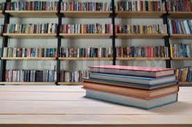 Bookshelf Background Image Blur Wooden Bookshelves With Various Colorful Books Background