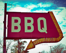 fine art photography bbq sign restaurant decor retro sign