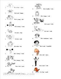 adjectives worksheets free printable on zegh tk