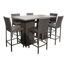 6 Seat Patio Table And Chairs Outdoor Pub Table Set Pub Table With Bar Stools