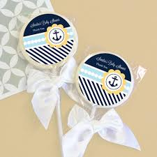 nautical baby shower favors nautical baby shower personalized lollipop favors personalized