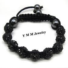 crystal shamballa bracelet images Fashion handmade crystal shamballa bracelet cool black shamballa jpg