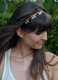 grecian headband gold grecian headband w 5 leaves custom or standard fit