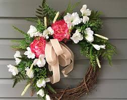 Grapevine Floral Design Home Decor The Spring Wreath Summer Wreath For Front Door Summer Wreath For