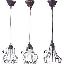 Caged Pendant Light Wire Cage Pendant Lights Antique Farmhouse