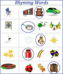 rhyming words worksheets for kids