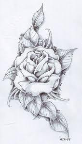 realistic single rose tattoo on side