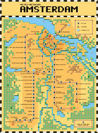 Amsterdam Metro Map by Amsterdam Metro Map In The Style Of Super Mario Bros 3 X Post R