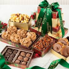 christmas and holiday gift towers candy gift towers river