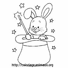 lapin magicien coloriage lapin magicien sur coloriage animaux org