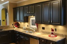 Copper Faucet Kitchen Tiles Backsplash Countertops With Dark Cabinets Cream Marble
