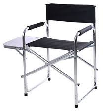 portable makeup chair with side table aluminum directors chair ebay