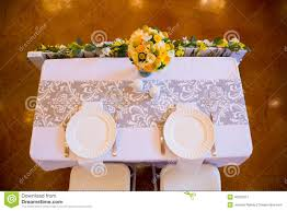 simple bride and groom table setting room design decor cool on