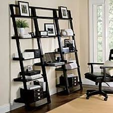 Ladder Office Desk Bookcase With Desk In Espresso Finish Ladder Bookcase Espresso