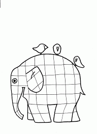 Patchwork Elephant Book - elmer coloring page 482198
