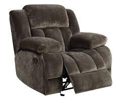 Fabric Recliner Chair Sadhbh Plush Brown Chion Fabric Recliner Chair