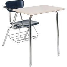 Kid School Desk 3000 Series Combo School Desk W Book Rack Virco Schoolsin