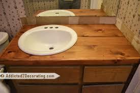 Diy Vanity Top Wood Bathroom Vanity Top Ideas Glamorous Diy Onsingularity