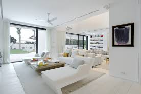 white interiors homes beautiful all white house with pool