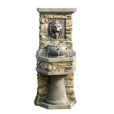 Outdoor Lion Statue by Fountain Cellar Lion Head Outdoor Indoor Water Fountain Fcl013