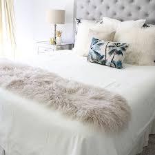 bed runners mongolian fur tibetan sheepskin bed runners eluxury home eluxury home