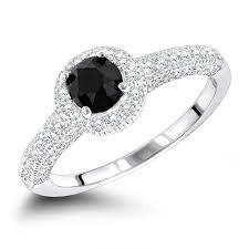 white gold engagement rings uk black diamond engagement rings 14k gold ring 1 03ct