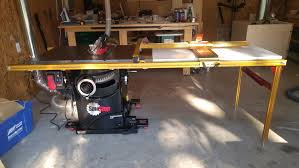 Sawstop Industrial Cabinet Saw Review Sawstop Pcs With Incra Ts Ls And Dust Collection Mod By
