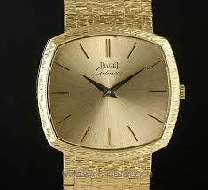piaget automatic piaget 18k y g bark bezel automatic gents 12401a6 watchcentre