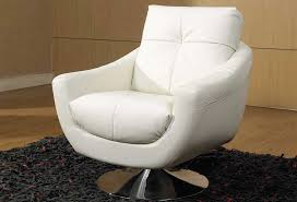 Round Armchairs White Contemporary Swivel Chair Modern Contemporary Swivel