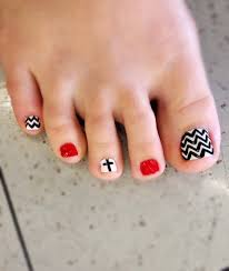 nail art toe nail designs fall summer cute easy super chevron art