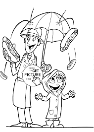 rain of dogs coloring pages for kids printable free