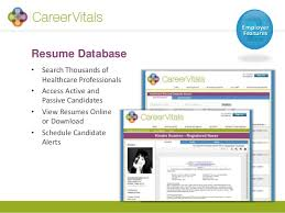 View Resumes Online by Careervitals Healthcare Job Board Features Pricing U0026 Current Promo U2026