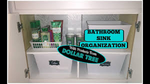 bathroom under sink organization dollar tree storage youtube