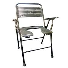 commode chair folding with plastic pot buy online at best price