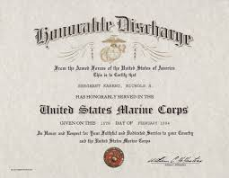 honorable discharge certificate honorable discharge certificate usmc