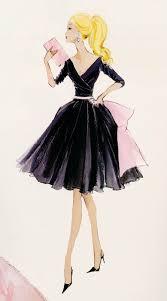 midnight mischief barbie fashion canvas print fashion art
