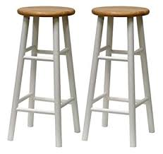 30 Inch Bar Stool Winsome Wood S 2 Beveled Seat 30 Inch Bar Stools Nat