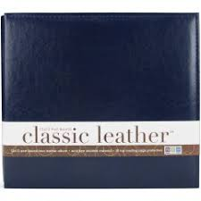 postbound album leather albums