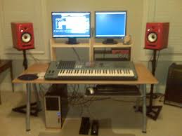 cheap diy ikea home studio desk am classic and dream music with