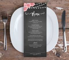 diy wedding menu cards category wedding wedding dinner menu cards deco style